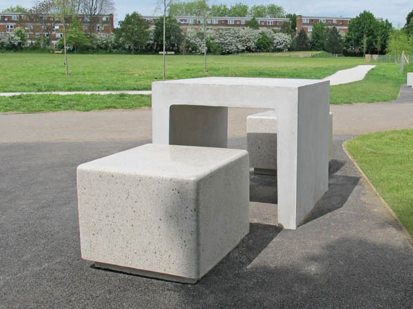 Core Square Concrete Bench Independent Seating Block