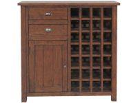 Claverton Reclaimed Pine Wine Cabinet - Furniture Barn