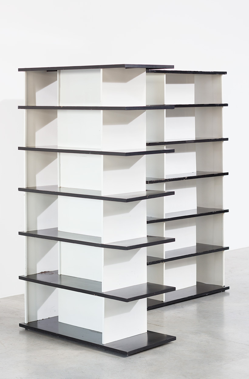 Wim Rietveld Pair Bookcases Shelving Units Room Divider