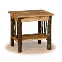 Rustic Hickory Log End Table - Hickory & Oak or All ...