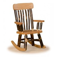 Rustic Hickory Spindle Back Childrens' Rocking Chair