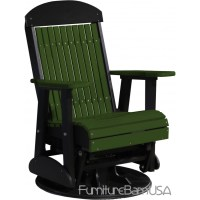 Poly Outdoor 2 Foot Highback Swivel Glider Bench / Chair ...