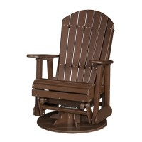 Poly Outdoor 2 Foot Adirondack Swivel Porch Glider Bench ...