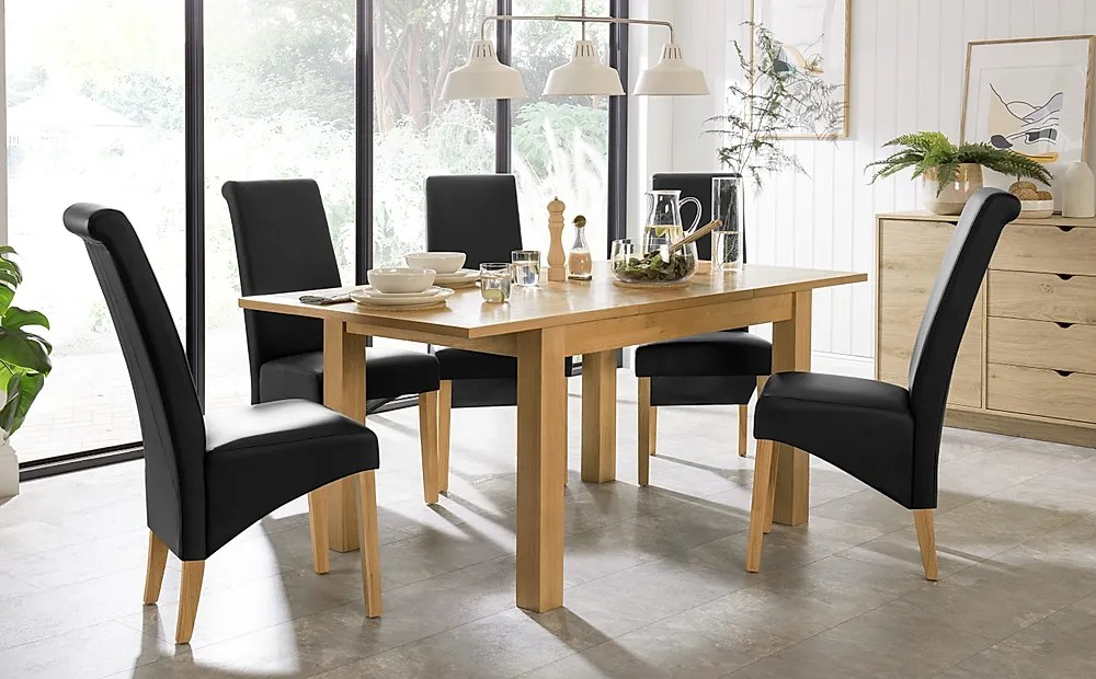 Hamilton 120 170cm Oak Extending Dining Table With 6