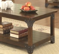703587 3Pc Coffee Table Set in Tobacco Brown by Coaster