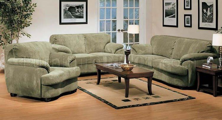 Olive Microfiber Oversized Living Room Set - oversized living room sets