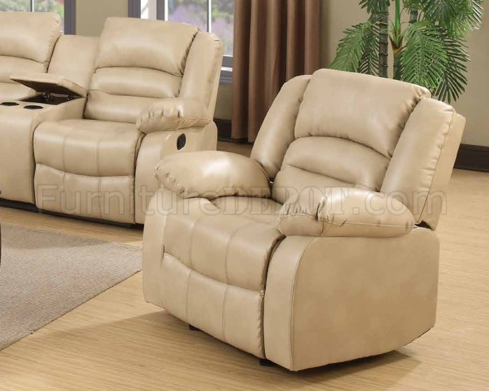 9243 reclining sectional sofa in cream bonded leather w options