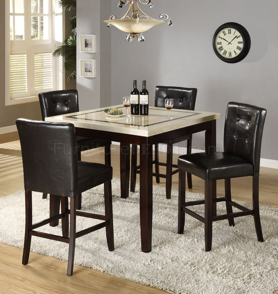counter height faux marble top modern dining table woptions p marble top kitchen table