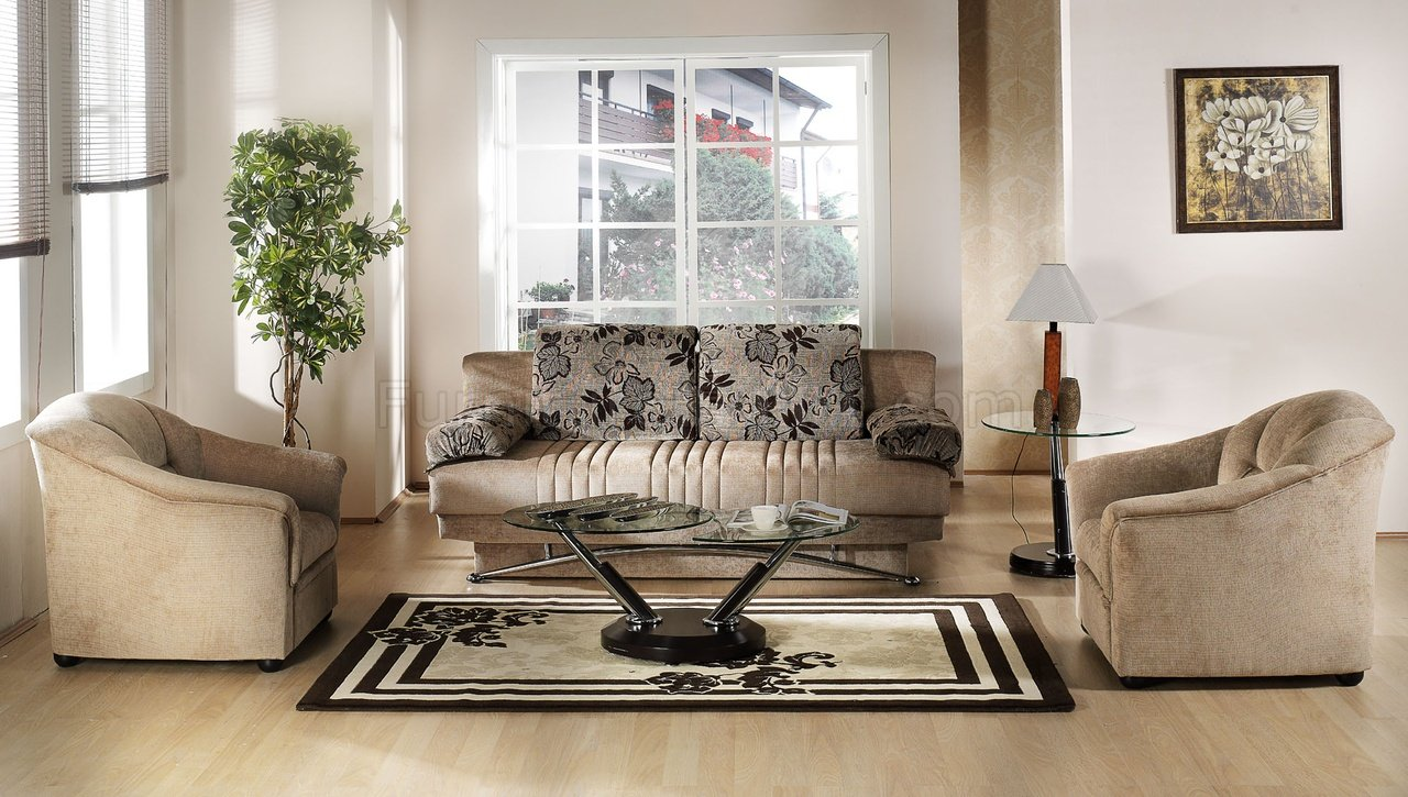 fantasy benja sleeper sofa in light brown microfiber by sunset
