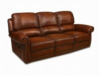 Leather Italia Light Brown Motion Parker Sofa & Loveseat Set