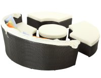 Quest Canopy Outdoor Patio Daybed Set Choice of Color by ...