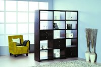 Contemporary Shelf Unit/Room Divider w/Additional Drawers