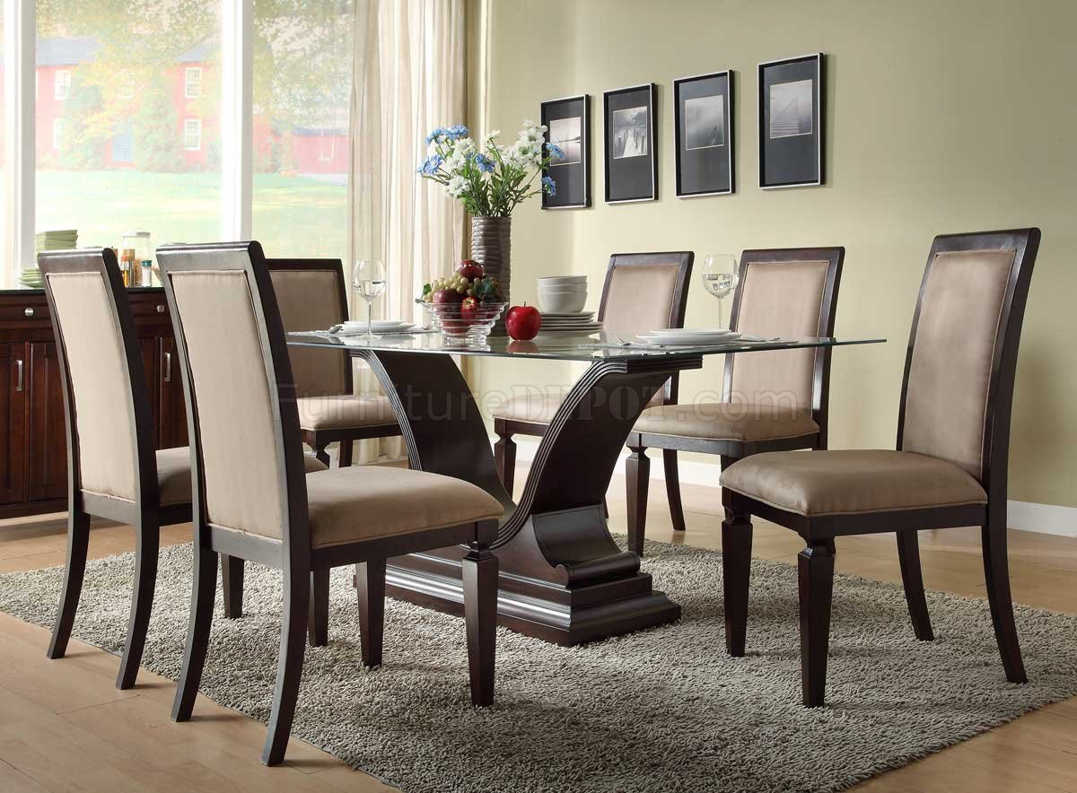 plano dining table by homelegance in espresso woptions p espresso kitchen table set