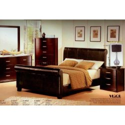 Sophisticated Cherry Finish Bedroom Bed Options Brown Bedroom Furniture Bedroom
