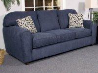 Blaze Navy Fabric Modern Sofa & Loveseat Set w/Options