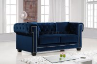 Bowery 614 Sofa in Navy Fabric Sofa w/Options by Meridian