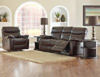 Berry Color Top Grain Leather Comfortable Reclining Living ...