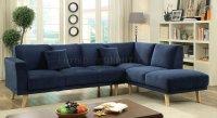 Hagen Sectional Sofa CM6799NV in Navy Fabric