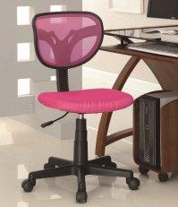 Pink Mesh Backrest Modern Office Task Chair w/Gas Lift