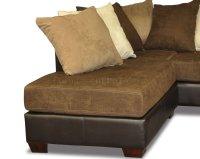 Scatter Back Modern Sectional Sofa W/Oversized Back Pillows