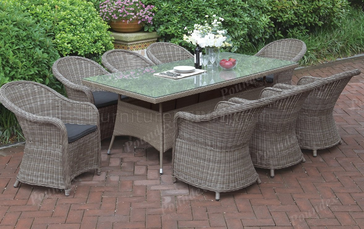233 Outdoor Patio 9pc Table Set By Poundex W Options