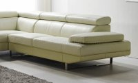 Off White Top Grain Full Leather Modern Sectional Sofa