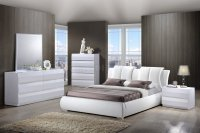 8269 Bailey Bedroom in White by Global w/Platform Bed ...