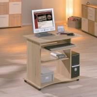 Dalton Corner Computer Desk In Sand Oak And Gloss White 2738
