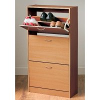 Envy Shoe Cabinet In Oak With 3 Drawer 5516 Furniture in