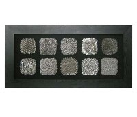 Framed 10 Silver Squares Wall Art 9161 Furniture in Fashion
