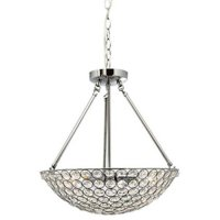 Chantilly 4 Lamp Chrome Pendant Basket With Clear Crystal