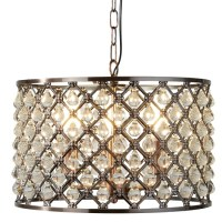 Marquise Antique Copper Celing Light In Drum Pendant Shape