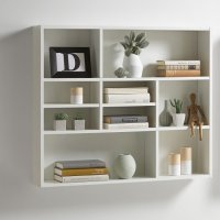 Andreas Wall Mounted Shelving Unit In White 27391 Furniture