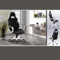 Lester Modern Home Office Chair In Black Faux Leather 23566