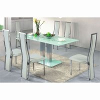 Buy cheap Frosted glass dining table - compare Tables ...