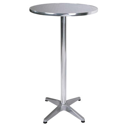 Bisect Bistro Tall Bar Table Round In Aluminium 2242