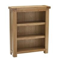 Edinburgh Wooden Small Bookcase In White Oak 27815