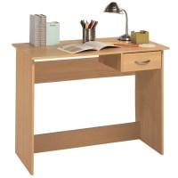 Jonas Wooden Computer Desk In Beech With 1 Drawer 28460