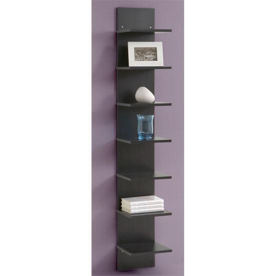 Vertical Black Wall Shelving Flip Buy Modern Home