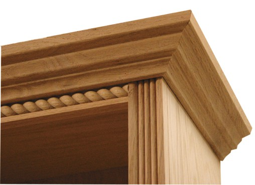 Inwood Bookcase Traditional Fluted Rope Full Trim 01