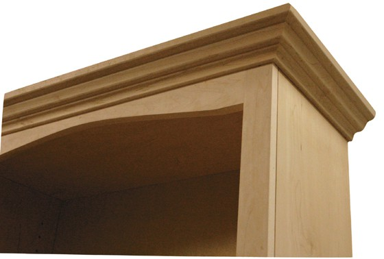 Inwood Bookcase With Arch Traditional Full Wrap Trim