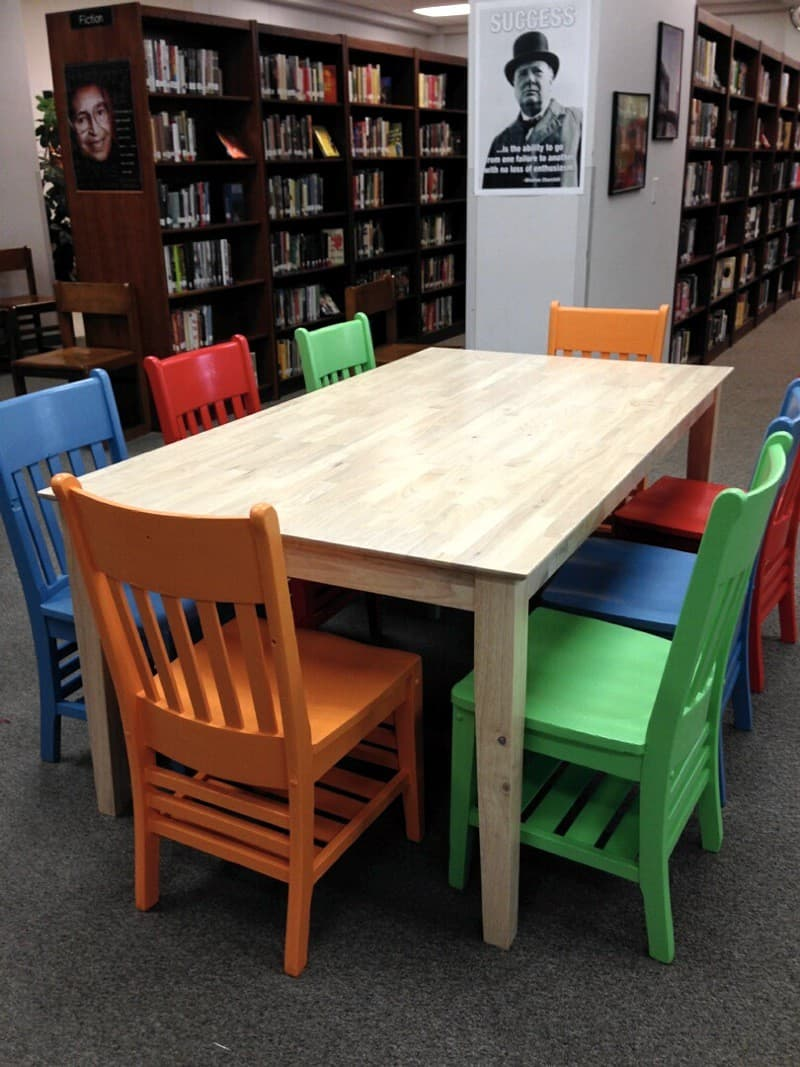 Mccallum High School39s New Library Table And Chairs
