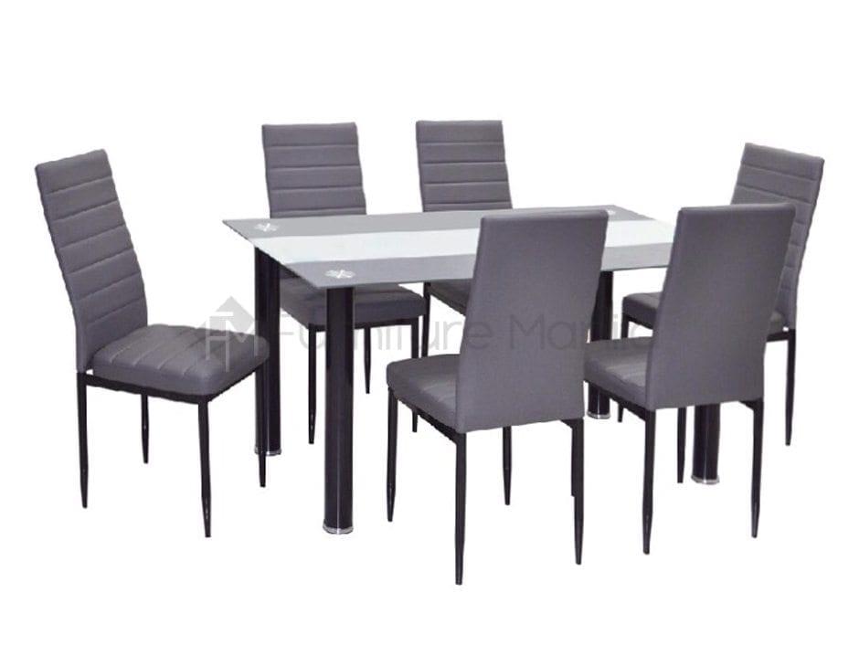 89 Blair Black Glass Dining Table 6 X Betty Chair Blair 6 X Betty Chairs3 Black Glass