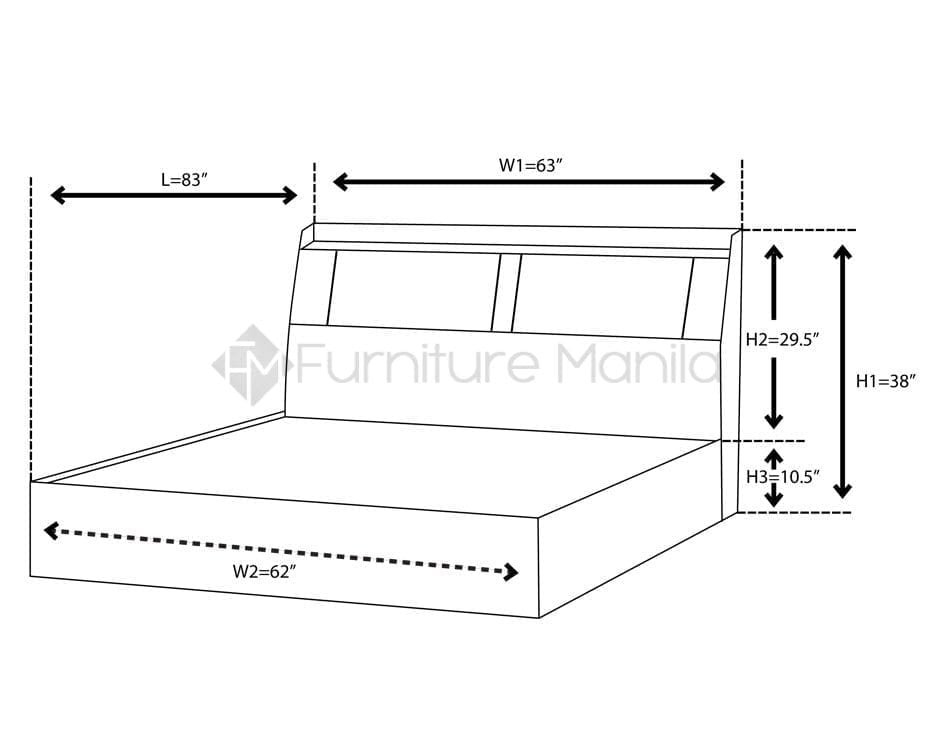 wiringpi led dimensions of queen bed