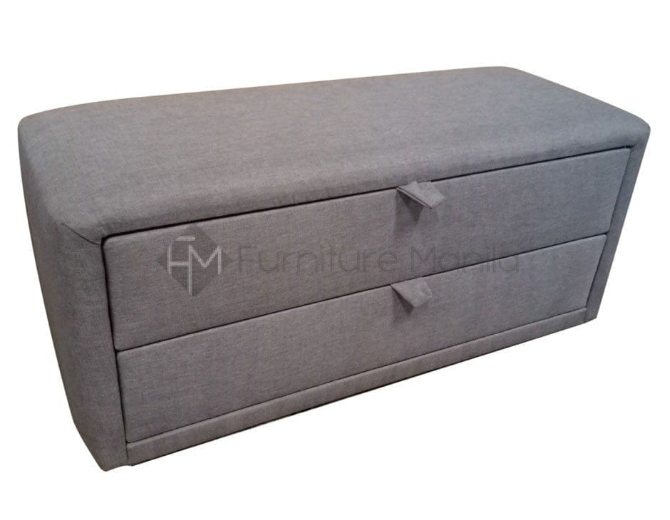 SaveEnlarge · Bedroom Ideas Gray Canvas Fabric Upholstered Bench With