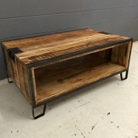 Iron and Wood Coffee Table - Nadeau Nashville
