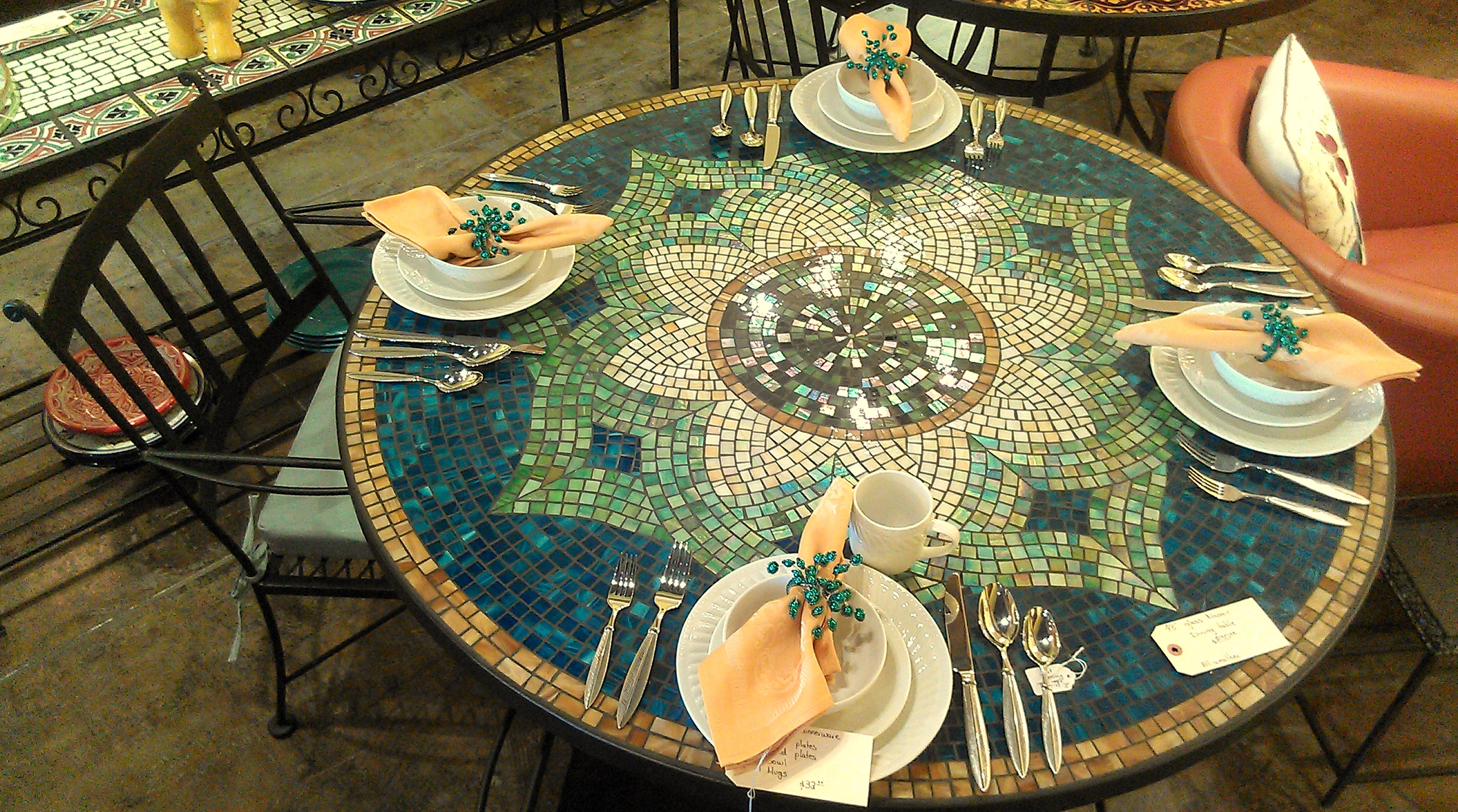 Dining Table: Dining Table Mosaic