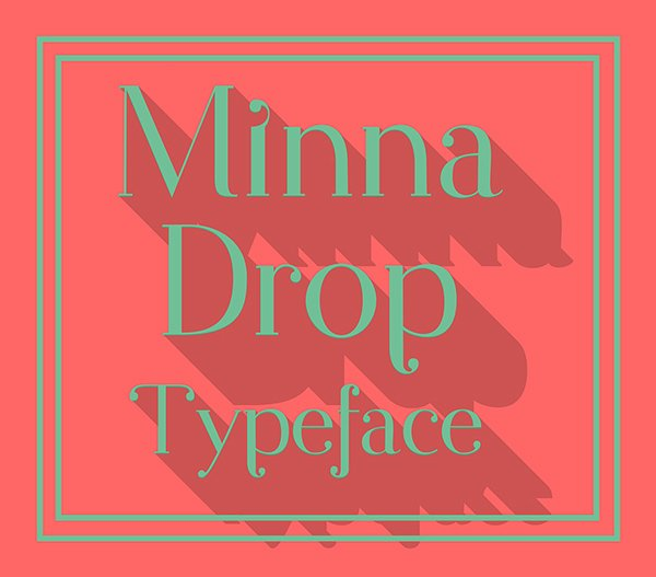 Minna Drop Free Typeface