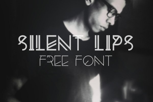 Silent Lips - Experimental Free Font