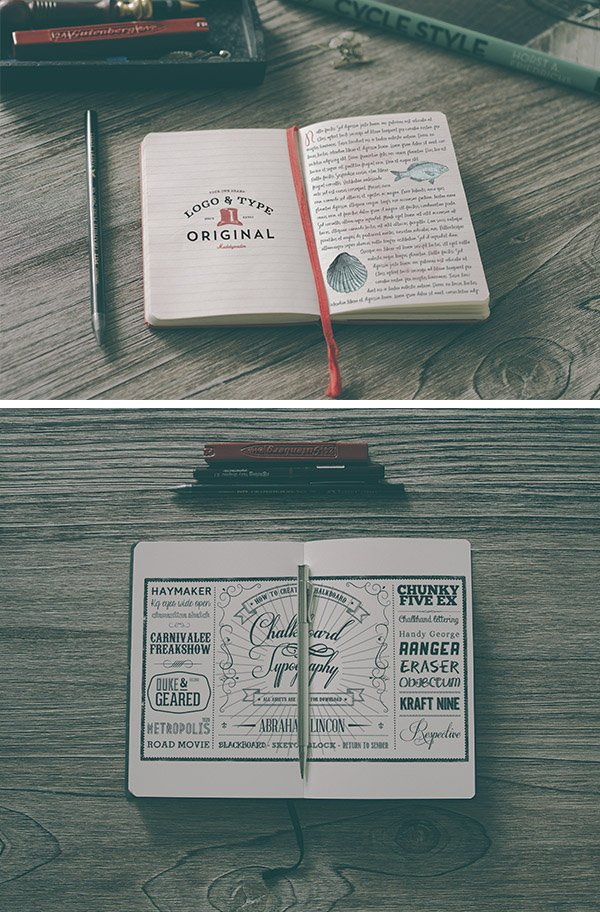 Hip Notebook MockUps